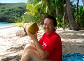 Drinking coconuts