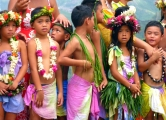 School kids from Nuku Hiva