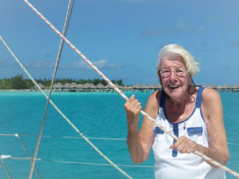 Tilly enjoying Bora Bora
