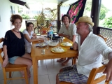 Lunch with our friend Julien, Ines and Clemence